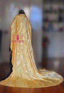 Image 4 - Muhteşem İmparator siyah altın rengi erkek kostüm fotoğrafçılık için COS hanfu geniş kollu ejderha desen kostüm kuyruk