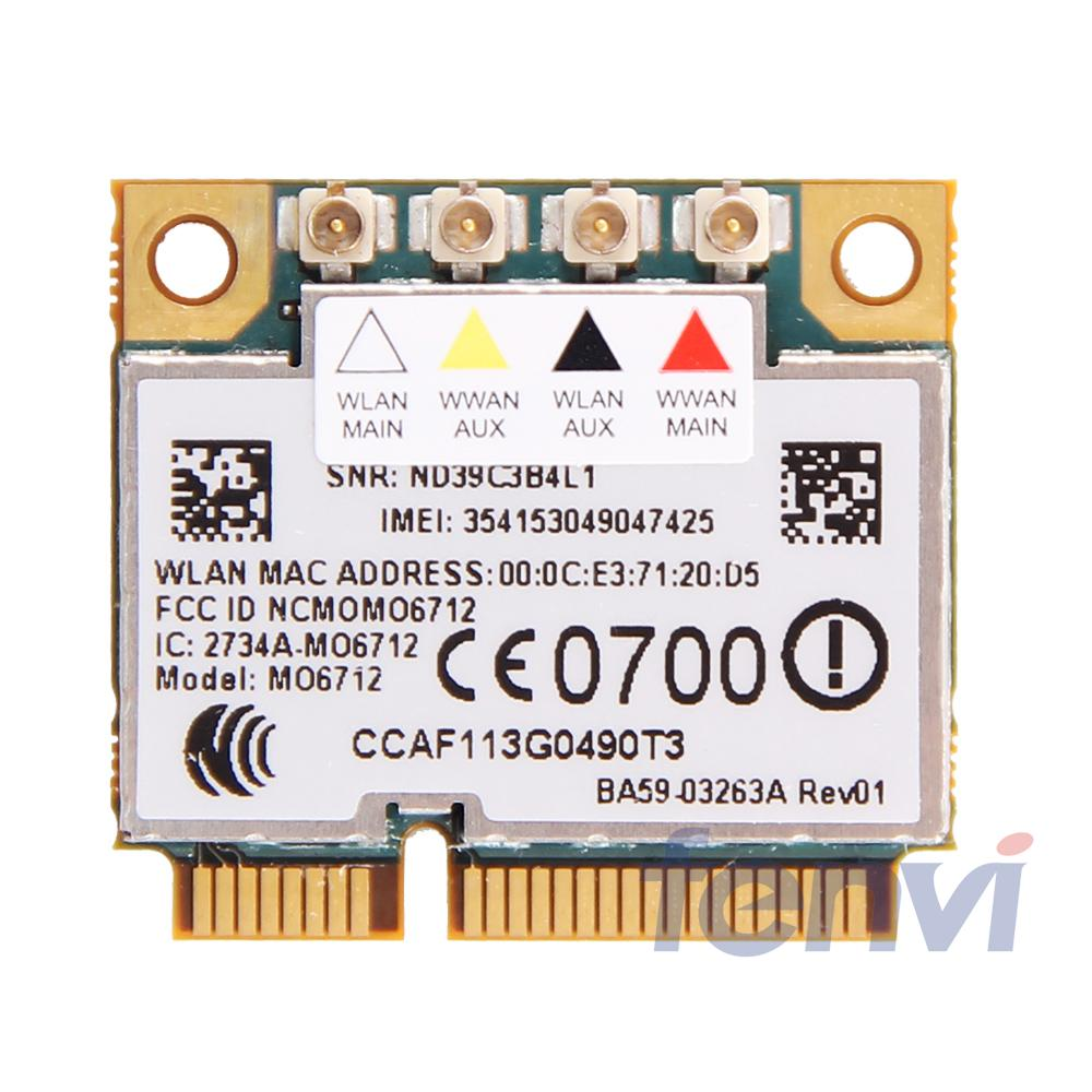 Option GTM671W MO6712 Mini PCI-E 3G Wireless WWAN Wifi Wlan Card HSDPA GPS EDGE WCDMA UMTS GSM Module