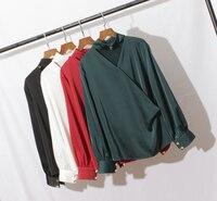 Blusas New Arrival Polyester Full Zanzea Blouse 2018 New Woman Shirt Temperament Lantern Sleeve Silky Halter