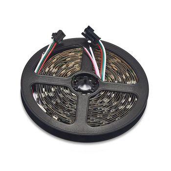 10roll 30 LEDs/M WS2812B LED RGB Strip Light Individual Addressable 5m/roll Non Waterproof DC5V WS2812 IC Control Pixels Strip