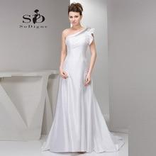 Wedding Dress 2016 SoDigne Custom Made One Shoulder Rhinestone Crystal A Line Vestido De Noiva Elegant Zipper