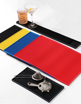 3 Size & 4 Colors Rubber Table Cup Mat Kitchen Pvc Mat Pad For Bar Cocktail led bar luminescent table cup mat kitchen mat pad for bar cocktail ktv light base gravity induction battery bar tools barware