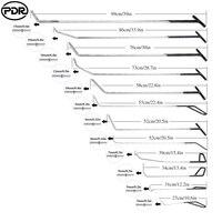 PDR крюковые инструменты Толкатель коронка удаление безболезненный вмятин ремонт инструмент ручной инструмент ремонт автомобиля инструмен...