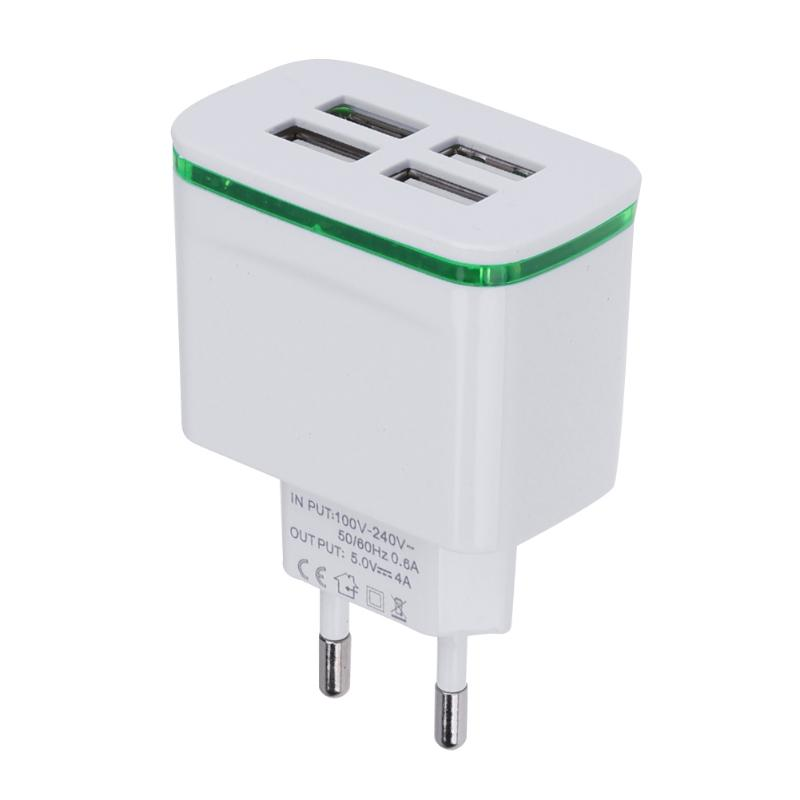 4 USB Hub Ports Charger Adapter Socket AC 100-240V DC 5V 4A AC Travel Power Supply Charging Sokcet EU Standard Plug ujoin travel portable us plug power adapter micro usb charging cable black blue 100 240v