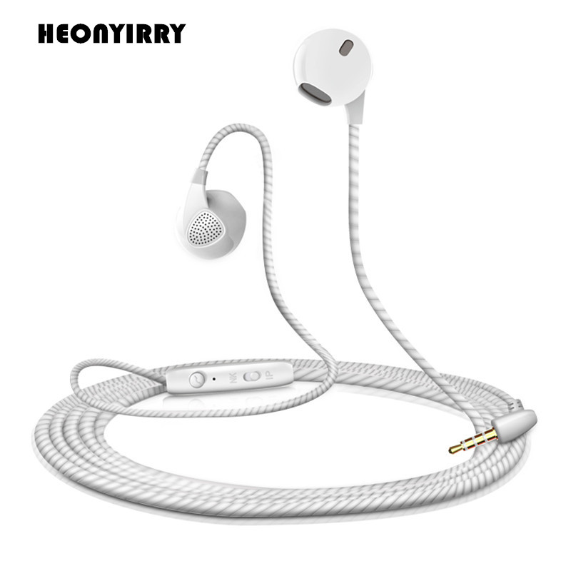 Hot Sale Sports Music Headphone Noise Canceling Earbuds Stereo Bass Earphones for Iphone/Samsung/Xiaomi/Huawei/HTC/MP3 Earpiece golf baroque noise cancelling stereo sound 3 5mm jack music earphones for iphone 6 ipad samsung lg htc moto mobile phone earbuds