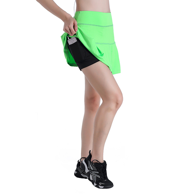 EAST HONG Women's Golf Badminton Tennis Skorts Fitness Running Sports Skirts