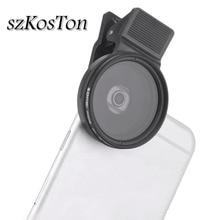 3 in 1 profesyonel cep telefonu Lens 37MM CPL + yakın çekim filtresi + ND2 400 ND Fader filtre kiti telefon kamera lensleri filtresi iPhone
