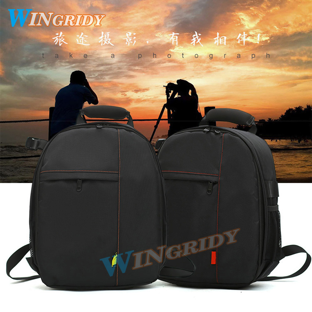 2018CAMERA BAG upgrade Waterproof Digital DSLRPhoto Padded Backpack w/Rain Cover Multi-functional SLR Camera Soft Bag Video Case
