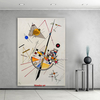 Large High Quality Wassily Kandinsky Brand Figure Oil Painting Canvas Painting Hand painted AbstractGeometric diagram Picture