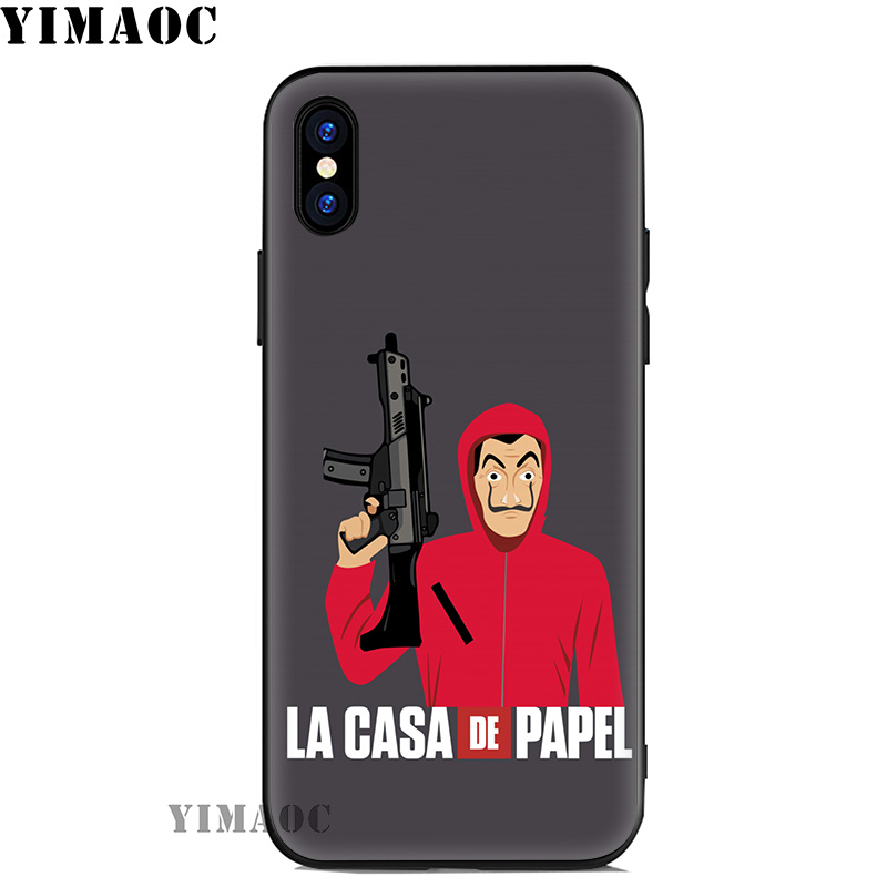 YIMAOC La Casa De Papel Soft Silicone Case for iPhone 11 Pro Xr Xs Max X or 10 8 7 6 6S Plus 5 5S SE Cover in Fitted Cases from Cellphones Telecommunications