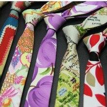 5cm necktie bright printed tie for men neckwear skinny floral ties suit accessories man neck tie