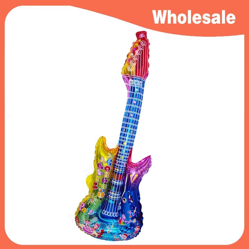 Wholesale! 80*30cm Cartoon Guitar Balloon Happy Birthday ...