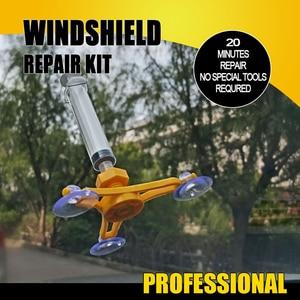 Image 4 - Forauto ferramenta de reparo de vidro do carro pára brisa kit de reparação diy conjuntos de manutenção de automóveis estilo da janela de polimento de tela para chip de crack