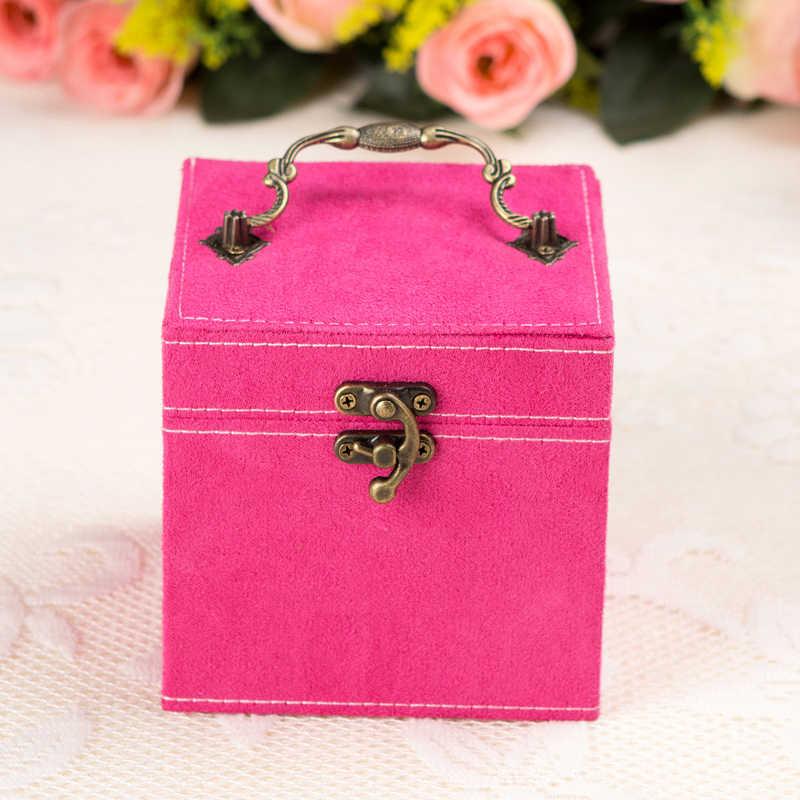 شحن مجاني كاندي الألوان مجوهرات النعش ماكياج المنظم 3 صواني صندوق للمجوهرات الفانيلا داخل مهرجان هدية بالجملة