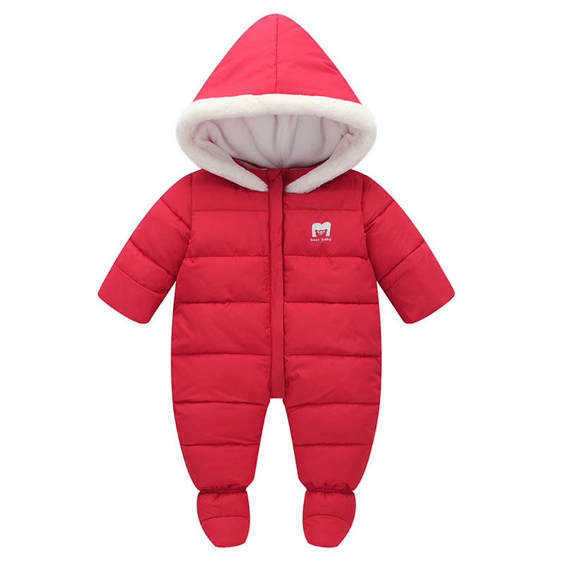 Cold winter baby girl boys clothes outfits thick cotton jacket coats Jumpsuit romper for boys girls baby clothing hooded rompers 100%cotton 3pcs lot baby rompers winter long sleeve baby boys clothing solid color o neck jumpsuit baby girls pajamas clothes