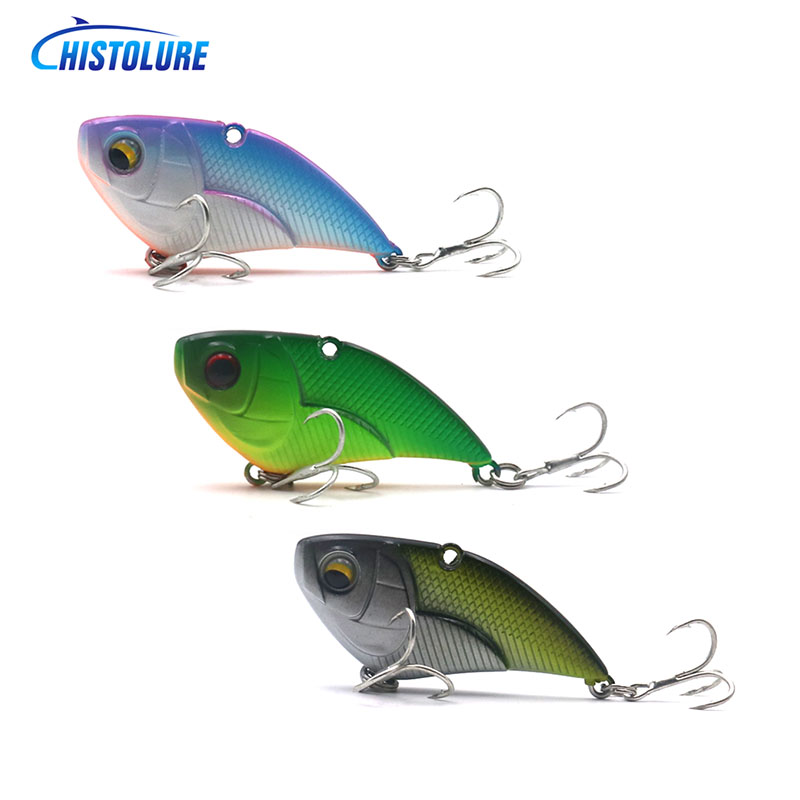 HISTOLURE  wobblers 5 Colors 55mm 15g Sinking Hard Bait VIB Minnow Crank Fishing lures Bass Artificial Bait tackle