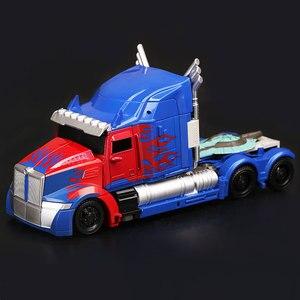 Image 2 - Hasbro Transformers aksiyon figürleri oyuncak King Kong 5 siyah Mamba KO kamyon Optimus Prime film geri seviye Robot modeli oyuncak
