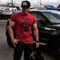 Venta caliente 2016 Del Verano Del Algodón Camisa de Fitness Culturismo Jadeo Camisetas Hombre Gymshark Hombres Musculosos Hombre Camisetas de Manga Corta