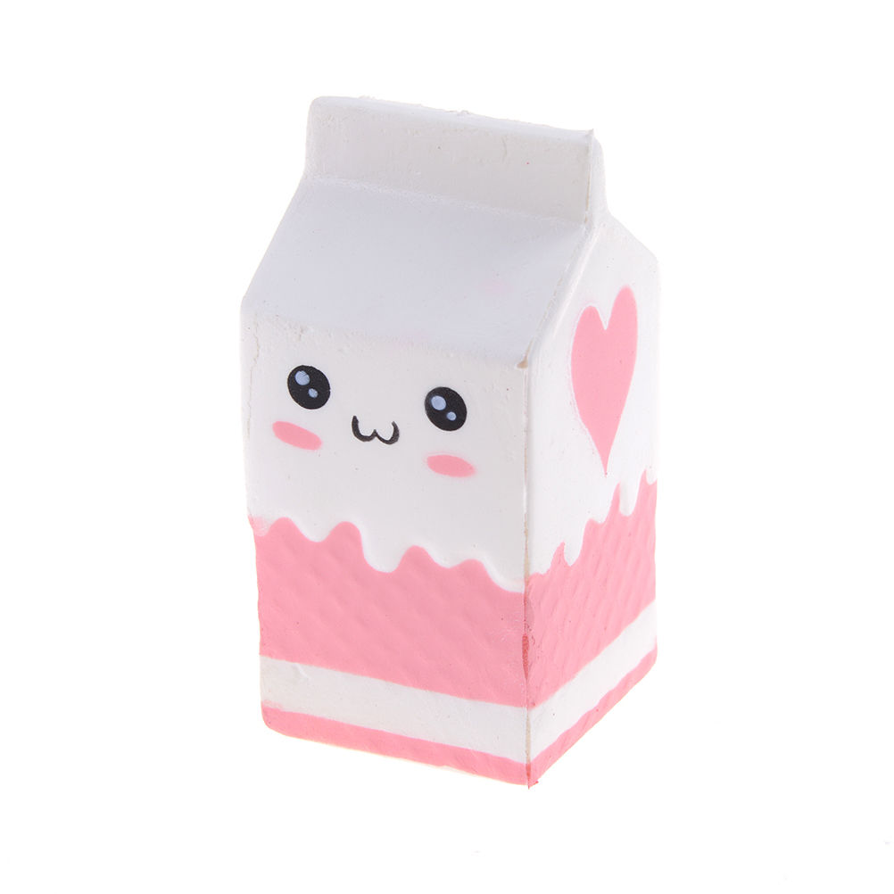 JINHF Emoji Face Milk Box Banana Ball Squishy Slow Rising Jumbo Pig Cotton Soft Squeeze Scented Bread Cake Kid Fun Toy Gift