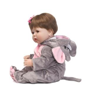 Image 5 - Bonecas de silicone cmlifelike de 18 polegadas, bebês, renascidas, bebê, menino, bonecas, brinquedos vivos reais para meninas, bebê, presente bonecas renascer