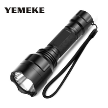 LED Flashlight Q5 / XM-L T6 1000lm / 2000Lumens LED Torch 5 Model Strobe SOS Model LED Flashlight Torch light For 1x18650