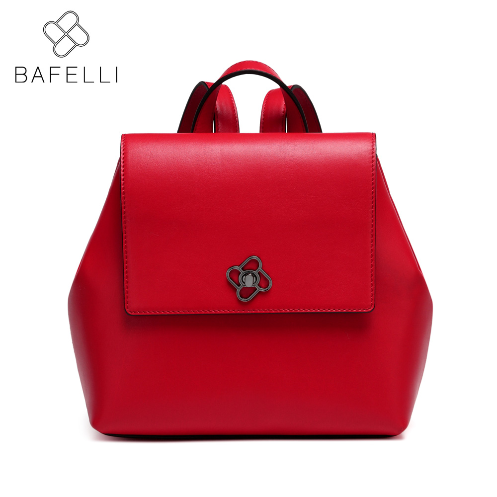 BAFELLI 2017 fashion teenages school backpacks hot sale women hasp backpacks red black softback bolsa mujer women bag