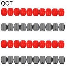 Qqt conjunto de montagem de superfície para gopro hero, para xiaomi yi sj4000 20 peças base de montagem + 20 pçs 3 m adesivo