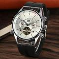 Спортивные мужские часы Tourbillon с автоматическим намоткой  силиконовый ремешок  наручные часы для мужчин  Мульти Циферблат  механические час...