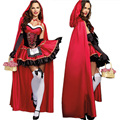 Sexy Cardinal Little Red Riding Hood Costume Uniform Sexy Halloween Costumes for Women cosplay Party Dress Nightclub Queen 210