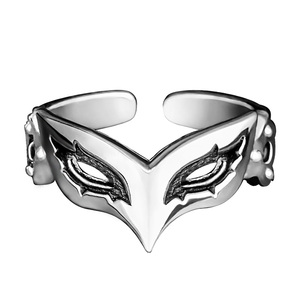 Image 3 - Game Anime Persona 5 P5 Joker Persona Mask Ring S925 Sliver Protagonist Eye Wolf Rings Women Men Animal Ring Cosplay Jewelry