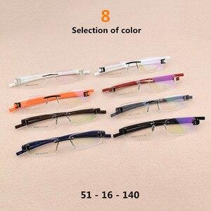 Image 3 - Senza cornice di vetro del telaio uomini TAG di Marca occhiali da vista frames uomini Miopia del computer vetri ottici telaio Ultraleggero movimento occhiali da vista