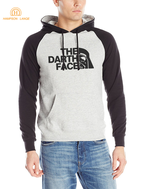 Star Wars The Darth Face Unique Design Funny Raglan Hoodies Men 2017 Hot Autumn Winter Warm Fleece Sweatshirt Hip Hop Streetwear