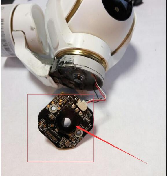 Xiao mi mi drone 4 k 버전 rc quadcopter 예비 부품 ptz 회로 기판 (화살촉 부분)-에서부품 & 액세서리부터 완구 & 취미 의  그룹 1