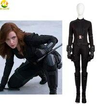 Romanoff キャプテンアメリカ 3 衣装ジャンプスーツハロウィン衣装の女性のカスタムメイド