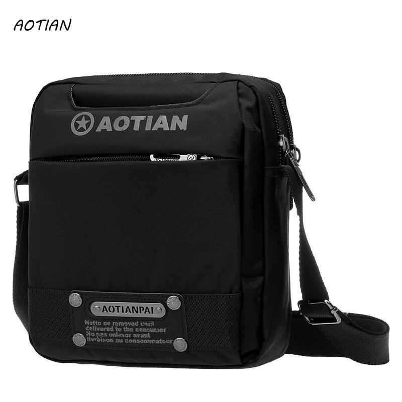 купить AOTIAN Brand 2018 New Nylon Men bag Casual Shoulder Bag Waterproof Man Casual Crossbody Bags Male Messenger Bags Handbag недорого