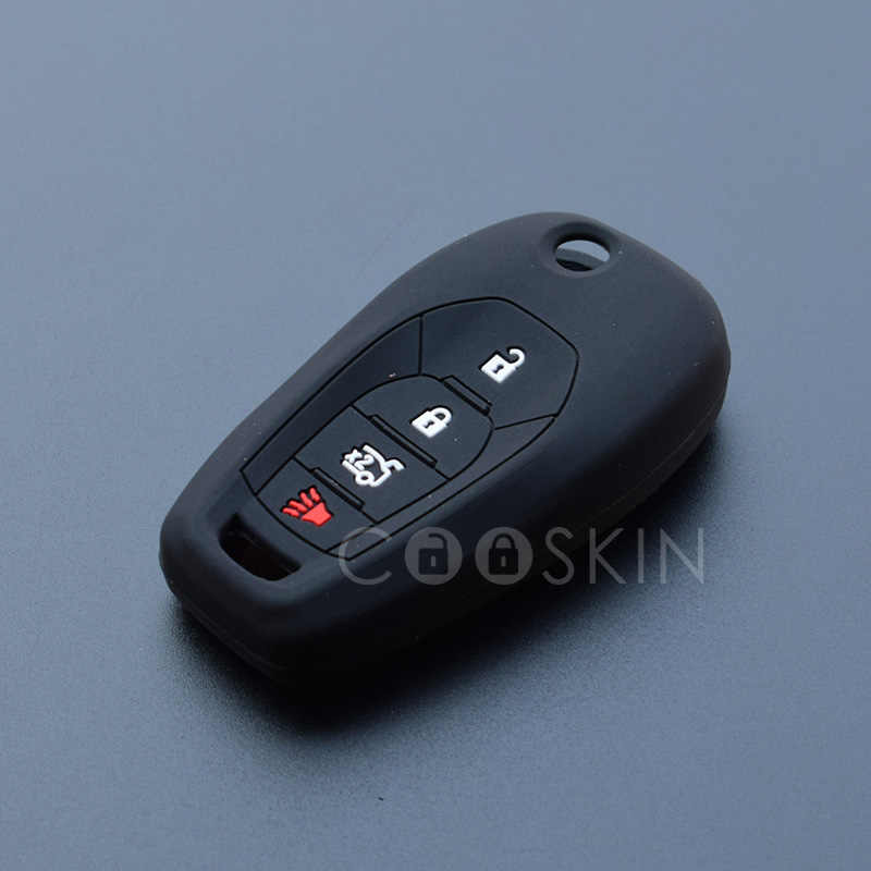 Silicone key fob cover case shell protect skin For Chevrolet