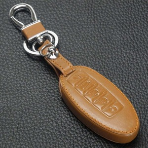 Image 2 - jingyuqin 5BTN Leather Key Case For Nissan Altima Maxima Infiniti EX FX G37 Q60 QX50 QX70 Smart Keyless Entry Remote Fob Cover