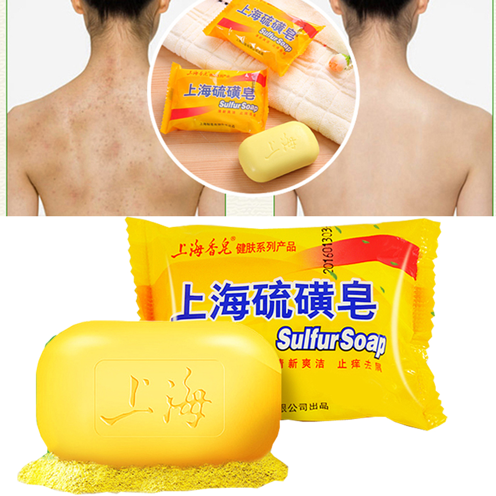 2018 Cheapest Hotest 85g Shanghai Sulfur Soap 4 Skin Conditions Acne Psoriasis Seborrhea Eczema Anti Fungus Bath Healthy Clean image