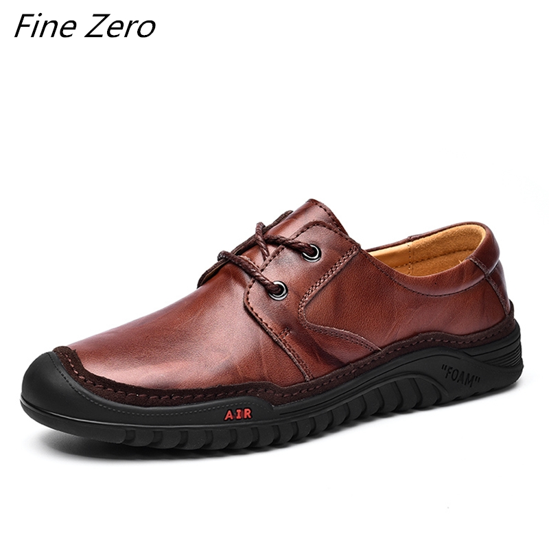 New Men's Waterproof Hiking Shoes Genuine Leather Travel Shoes Outdoor Non-slip Wear Sneakers Men Trekking Climbing Sports Shoes