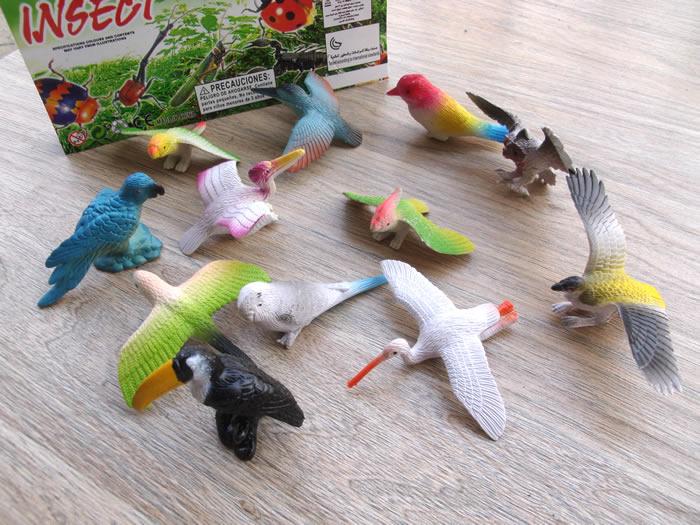 12 יחידות מלאכותי דקורטיבי פלסטיק דגם צעצוע תוכי ציפור בר בעלי חיים ינשוף נשר אווז הבר Magpie ברבור דמויות צעצוע ילדים מתנה