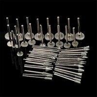50PCS Grit 80 Diamond Sanding Needles Coated Rotary SMALL Head Burr Point Grinding Rod Jewelry Tools