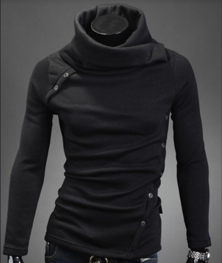 Jacket Sweater Turtleneck Collar Street Men Fashion Casual Long-Sleeved Brand New Warm