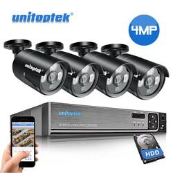 4CH 48 V POE NVR Sistema CCTV H.265 HD 4MP POE IP Telecamera di Sicurezza Esterna Impermeabile Plug And Play video di Sorveglianza Kit