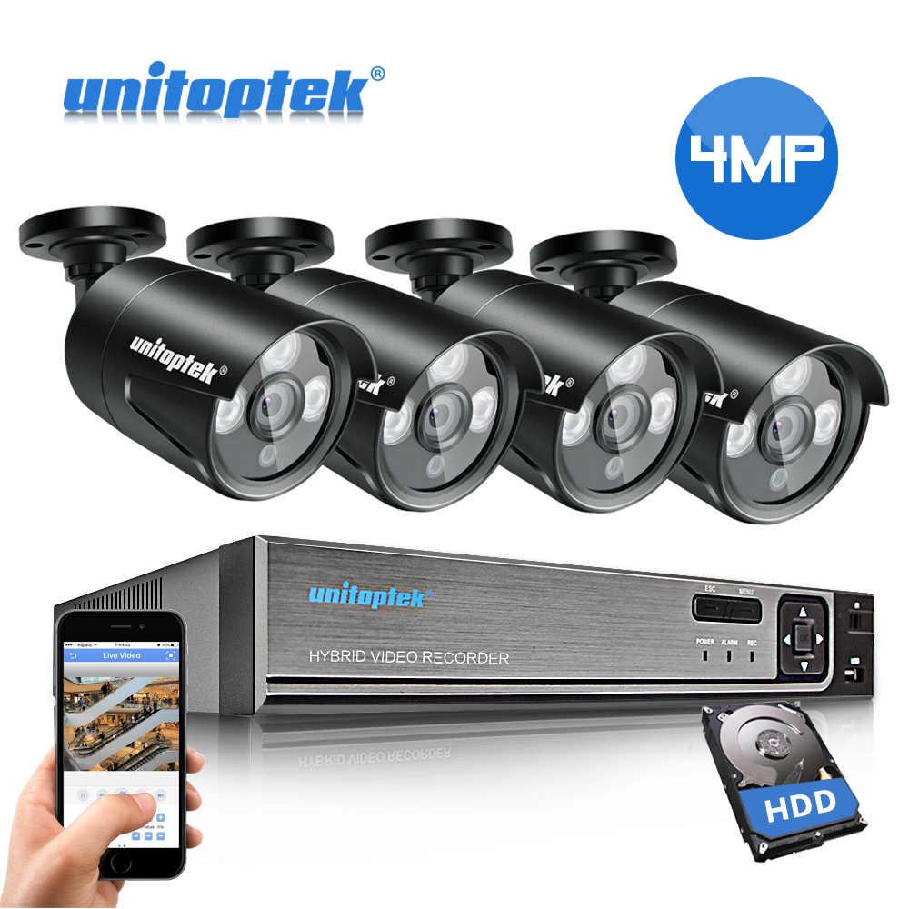 4CH 48V POE NVR ระบบกล้องวงจรปิด H.265 HD 4MP POE กล้อง IP กล้องรักษาความปลอดภัยกลางแจ้งกันน้ำ Plug และ Play ชุดการเฝ้าระวังวิดีโอ