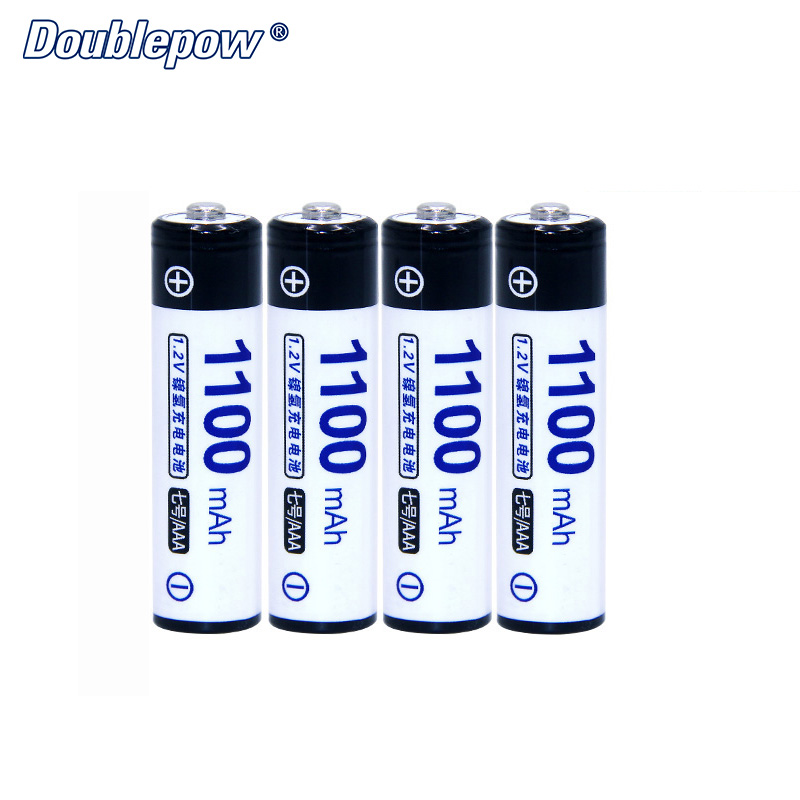 4pcs/Lot Doublepow DP-AAA1100mAh 1.2V Ni-MH Rechargeable Battery in Actual High Capacity of 1100mA Battery Cell FREE SHIPPING
