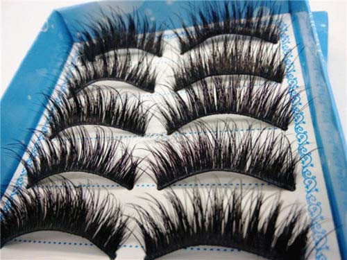Initiative High Quality 5 Pairs/set Of Natural Long Black Eyelashes Makeup Handmade Thick Fake False Eye Lashes Extension Tools 2017 New For Sale Beauty Essentials