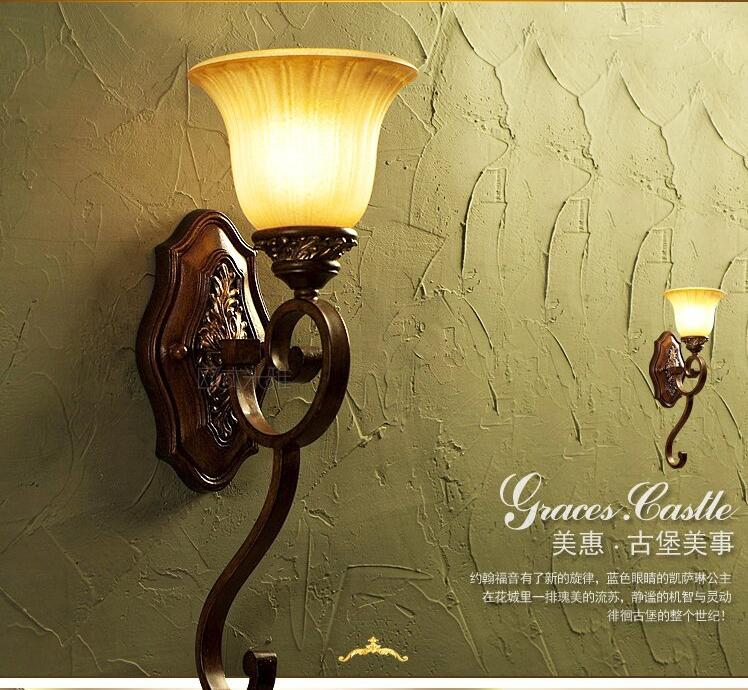 2017 new European style wall lamp mirror wall lights bedside lamp lighting lamp room American pastoral village Wall Lamps FG670