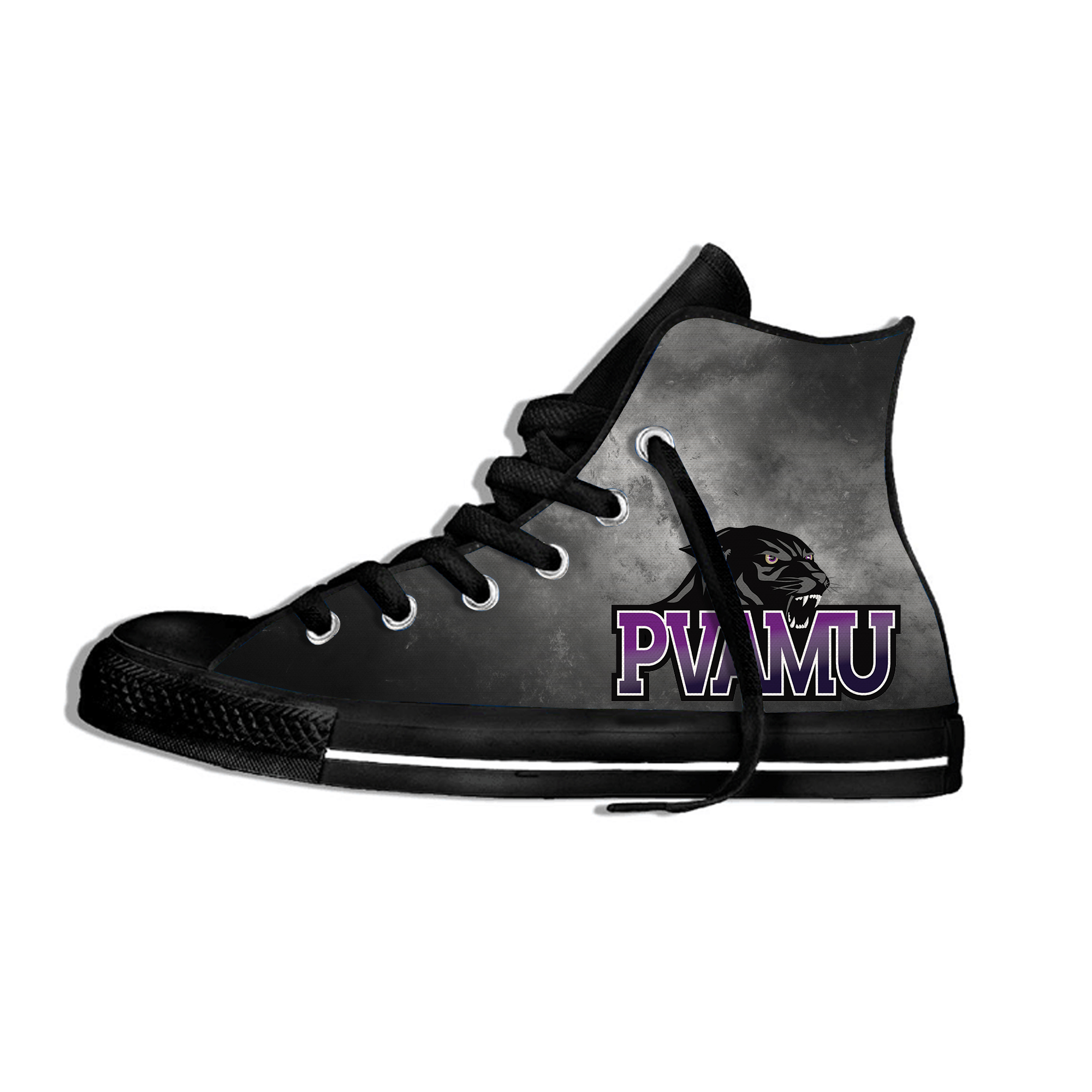 Lightweight Men's/women's Prairie View A&M Panthers Shoes Casual University Flat Canvs Sneakers Breathable High Top Shoes(China)