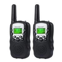 מכשיר הקשר Porster שחור / כחול / ורוד / 2pcs צהוב מיני מכשיר הקשר Kids רדיו תחנת RT388 0.5W PMR PMR446 FRS UHF רדיו נייד חדש (2)