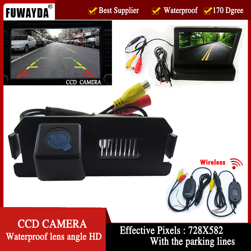 170 Degree Viewing Angle Reversing Camera for Hyundai I30//Genesis//Tiburon 2007//2008//Kia Soul//Coupe HD Color CCD Waterproof Vehicle Car Rear View Backup Camera